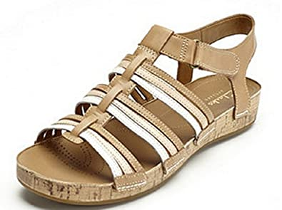 39bbd440482 Image Unavailable. Image not available for. Colour  Clarks Raspberry Chic  Strappy Sandal - Tan Combi ...
