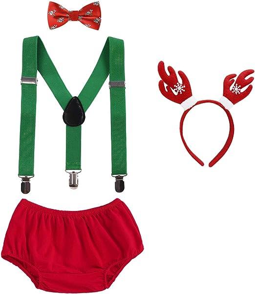 Baby Boy Cake Smash Outfit 1st Birthday Christmas Clothes 3PCS Set Photo Costume