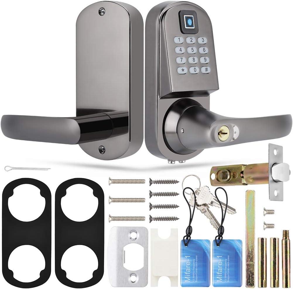 S200 Fingerprint Password Mechanical Key Smart Door Lock Anti-Theft Gate Lock Fingerprint Password Anti-Theft Gate Lock