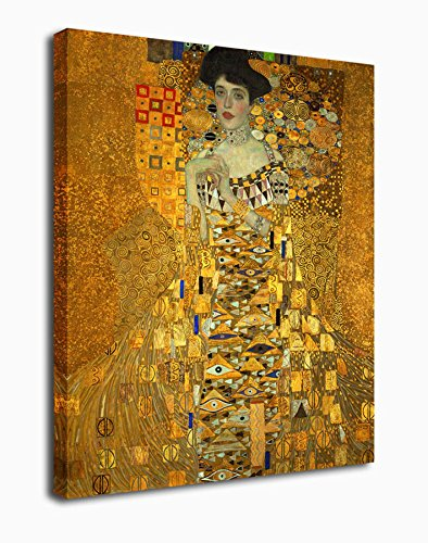 Adele Bloch Bauer Gustav Klimt - Portrait of Adele Bloch Bauer Gustav Klimt Painting Canvas Prints Wall Art Decor Framed 30x40 Inch - Large Modern Giclee Art Reproductions Print on Canvas Ready to Hang for Home and Office Decoration