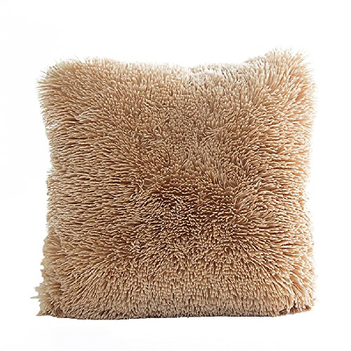 Faux Fur Pillow Cover, FabricMCC Home Decorative Super Soft