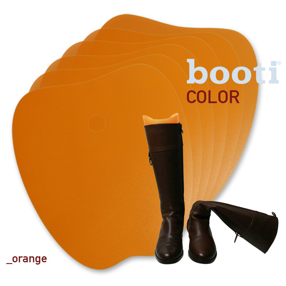 booti boot shaper COLOR - orange (pack of 8) for 4 pairs of boots