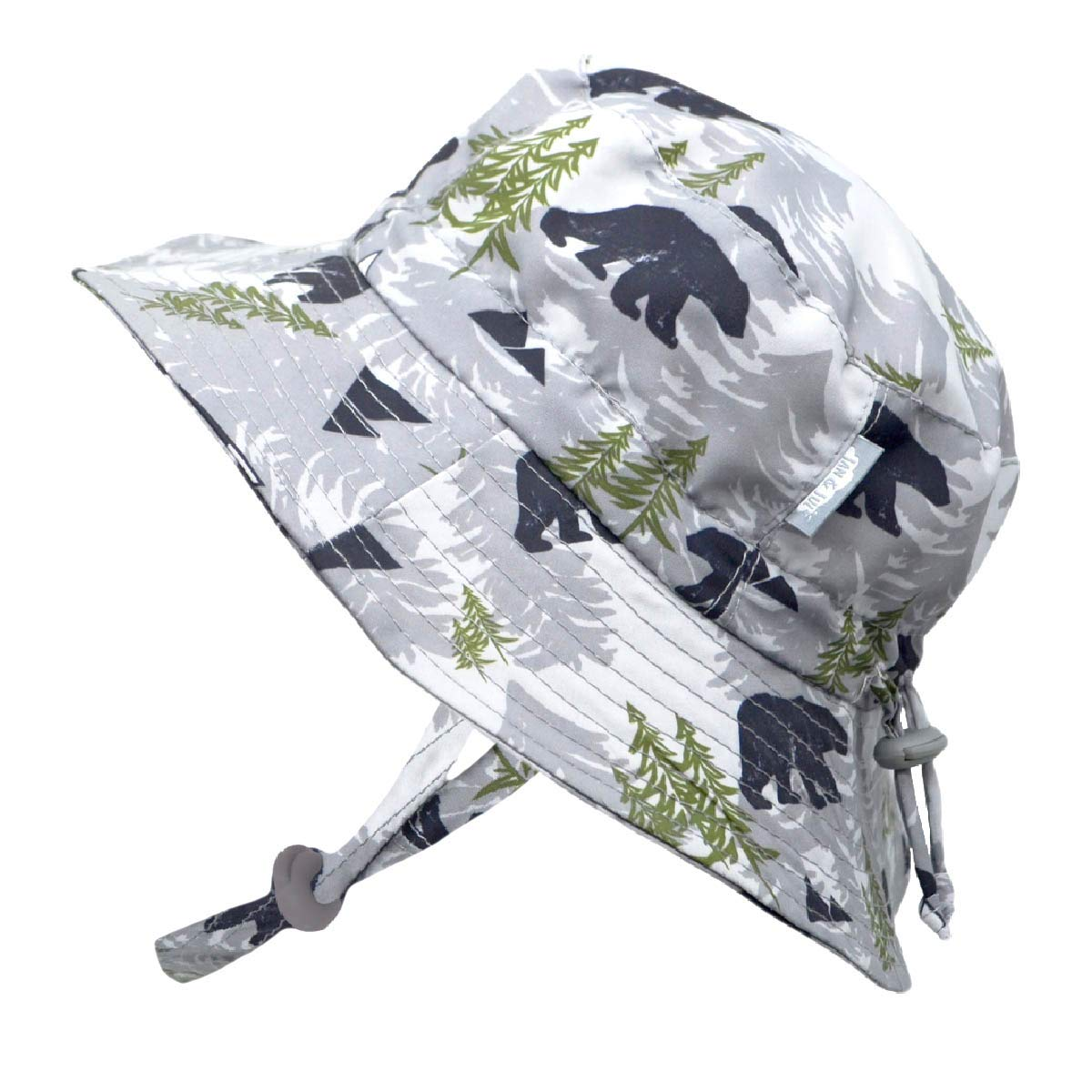 JAN & JUL Boys Summer Aqua-Dry Swim Sun Hats 50 UPF, Adjustable Foldable Packable (XL: 5-12Y, Bear)