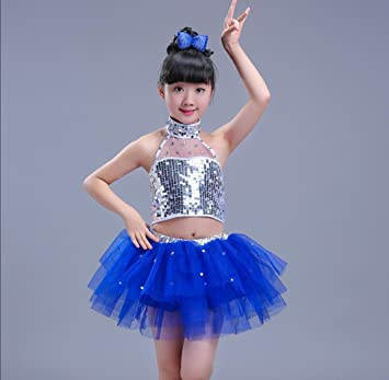 f45da4b25d5c Children s dance costumes children s sequins jazz costumes girls ...