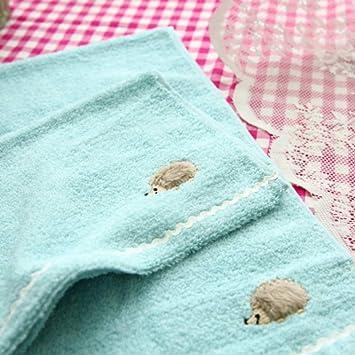 WLLLO Pequeño Erizo Bordado Terry de algodón de Doble Cara, Toalla de algodón de Dibujos