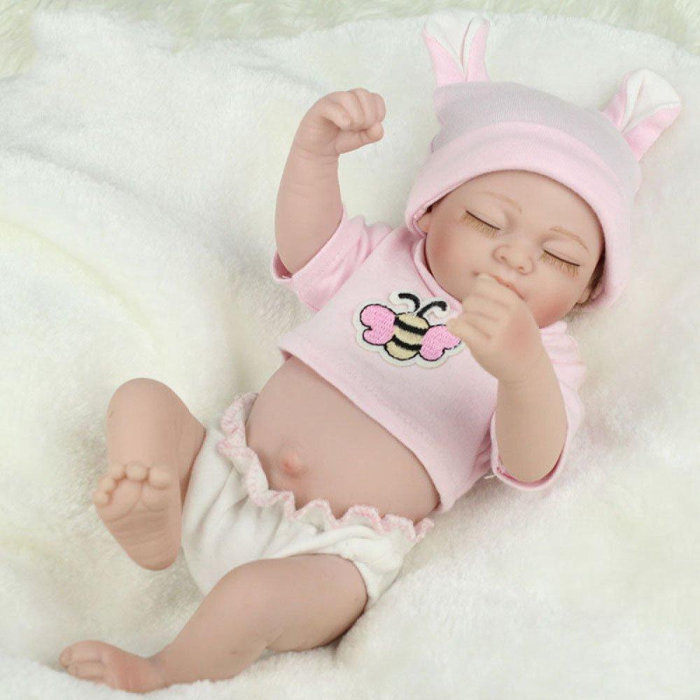 ADZPAB Bebé recién Nacido de 11 Pulgadas Muñeca Realista Simulación de Silicona Completa Física Bebé Muñeca Niños Playmate Regalo de Cumpleaños 28 Cm Puede Lavar