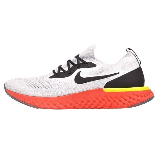 Nike Men's Epic React Flyknit Running Shoes (10, True WhiteBlack Pure Platinum)