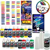Createx KIT-SUPER16 Airbrush Super Starter Kit With Pack of 100 - 1 Ounce Paint Mixing Cups, Airbrush Book, Createx Color Chart of all 80 Colors and Color Mixing Wheel