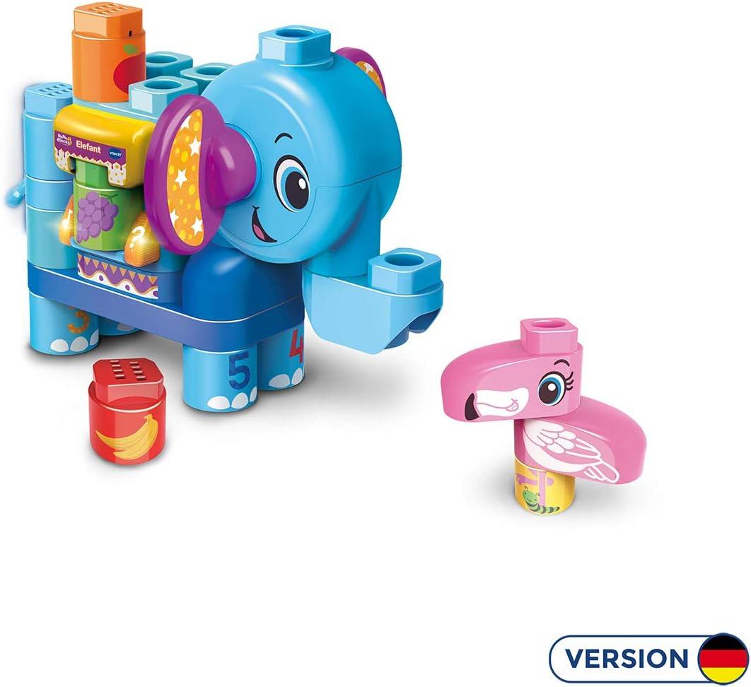VTech Bla Bla Blocks 80-604704 Juego Educativo - Juegos educativos (Azul, Multicolor, Child, Niño/niña, 1,5 año(s), 4 año(s), Elefante): Amazon.es: Juguetes y juegos