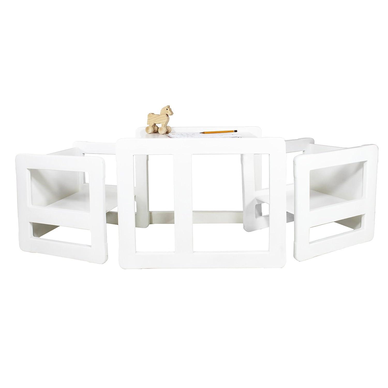 Set mobili multifunzionali 3 in 1 set 3 pezzi, due sedie ...