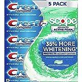 Crest Complete Toothpaste Plus Scope Advanced Active Foam, Striped, 8.2 oz, 5 ct