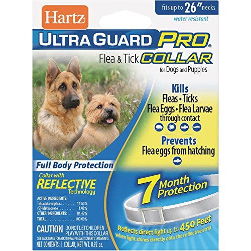 Hartz UltraGuard Plus 7 Month Protection Reflective Flea & Tick Collar for Dogs and Puppies - -