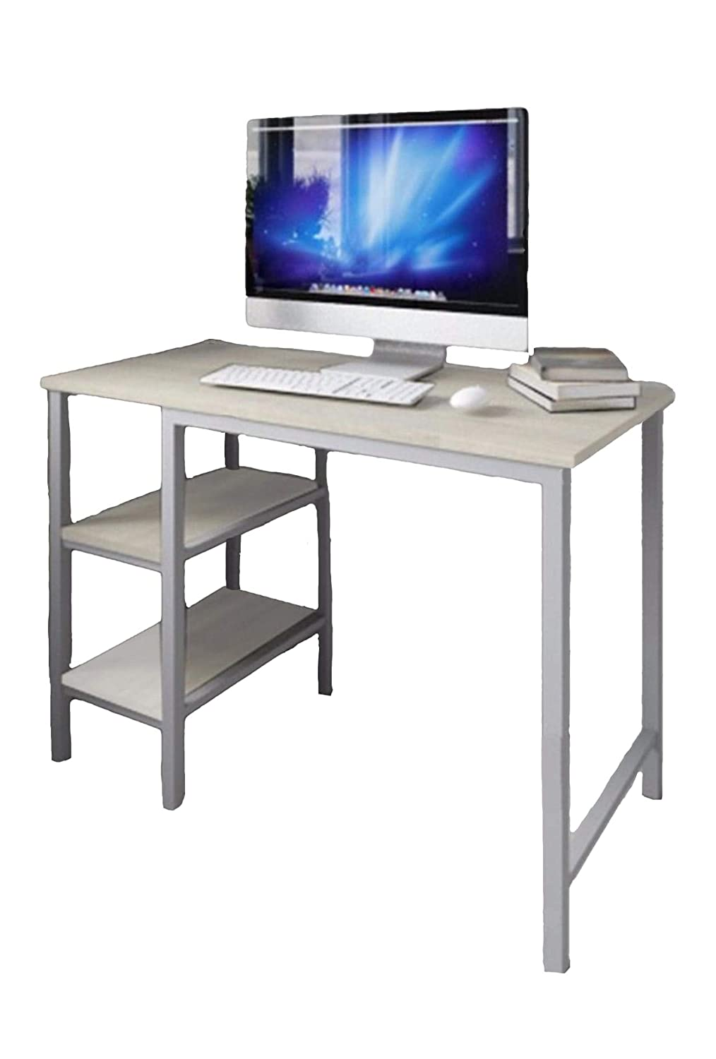Amazing Desk Shelf Unit Computer Pc Table Study For Home Office Furniture Workstation White Download Free Architecture Designs Scobabritishbridgeorg