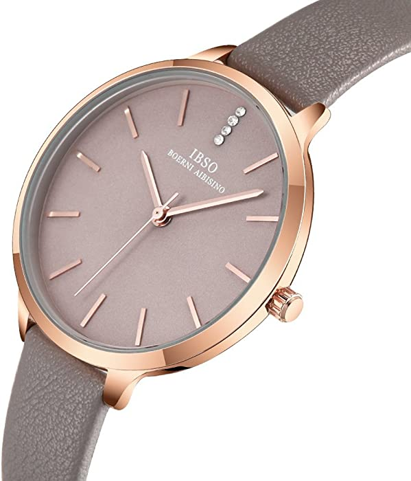 b0b075595 Women Fashion Simple Watch Ultra-Thin Retro Quartz Analog Leather Strap  Ladies Wristwatch