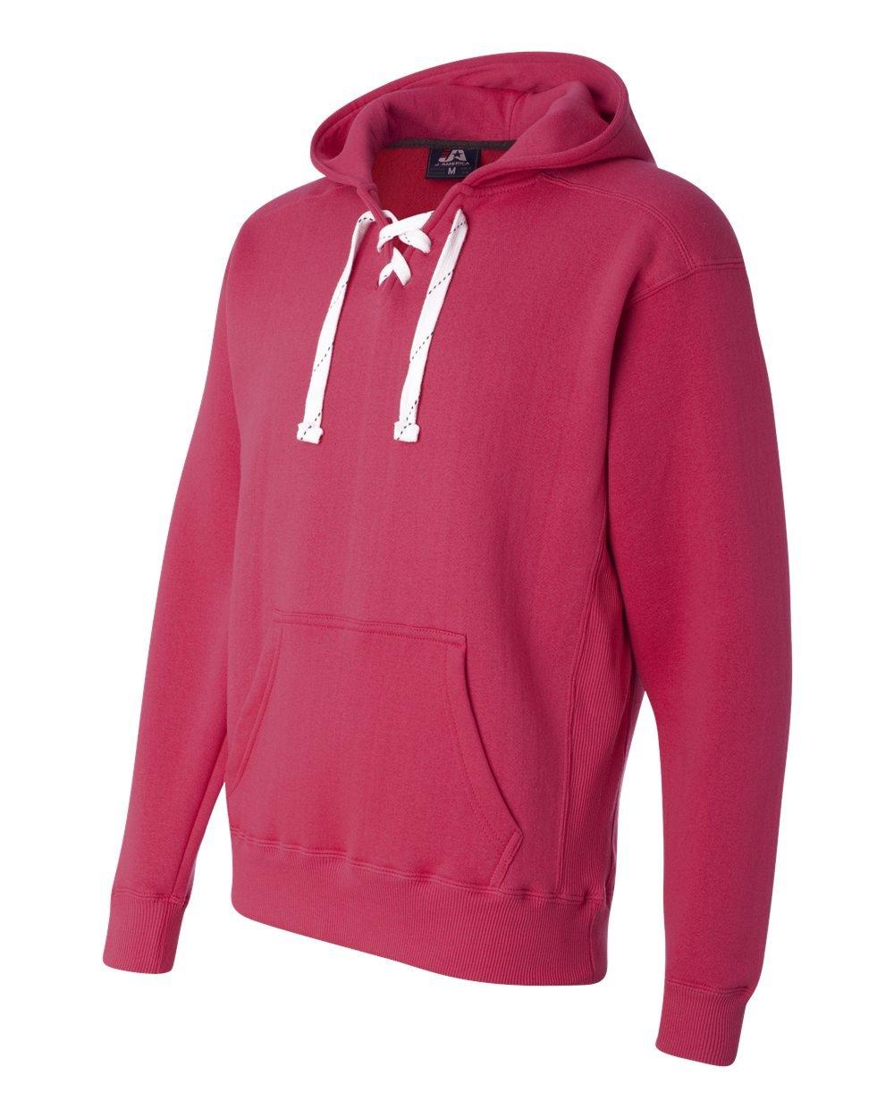 Wildberry Hockey Hood Sweatshirt: 80% Ringspun Cotton, 20% Polyester Fleece Fabric.,Wildberry Pink,Small