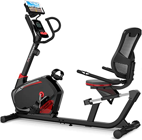 HARISON Magnetic Recumbent Exercise Stationary bike for Seniors 350 LBS Capacity with 14 Level Resistance Father's Day Gift