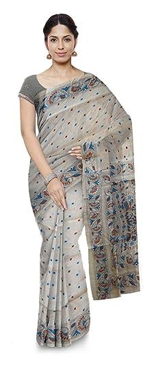 Tarini Wcs Ikat Handloom Tussar Saree (Multi-Coloured, Tarini 2)