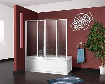 mampara Pared bañera de ducha para bañera CM.67/68 + 133, 4 Paneles PLEGABLES: Amazon.es: Bricolaje y herramientas