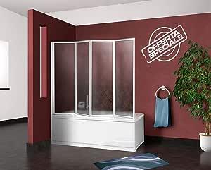 mampara Pared bañera de ducha para bañera CM.67/68 + 133, 4 ...