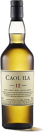 Caol Ila 12 Años Whisky Escocés Puro de Malta de la Isla de Islay - 700 ml