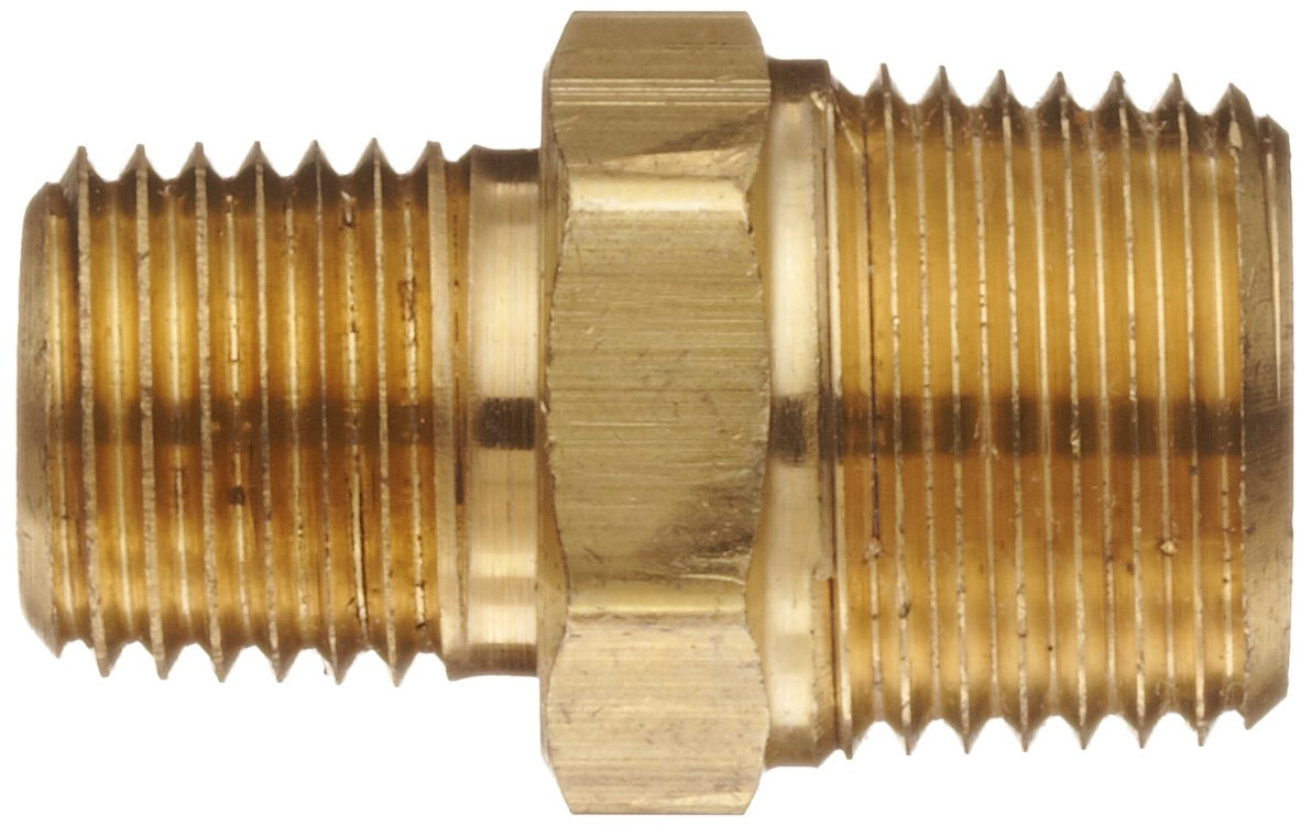 3//4 Male Pipe x 1//2 Male Pipe Anderson Metals Brass Pipe Fitting Reducing Hex Nipple