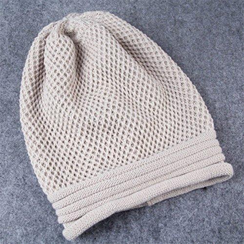 Nation Knit Winter Warm Women Men Hip-Hop Beanie Hat Unisex Ski Cap (Beige)