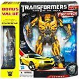 Transformers 3 Dark of the Moon Exclusive Leader Class Mechtech Action Figure Bumblebee Includes Deluxe Class Starscream Vehicle