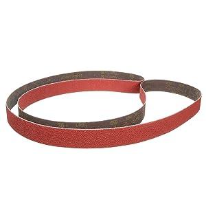 "3M Cubitron II Cloth Belt 984F, Polyester, Wet/Dry, 3/4"" Width x 18"" Length, 80+ Grit, Orange (Pack of 200)"