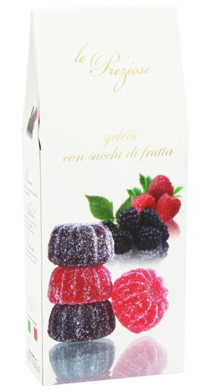 Le Preziose Italian Fruit Jelly Sweets with Fruit Juice 7.9oz (Blackberry & Raspberry)
