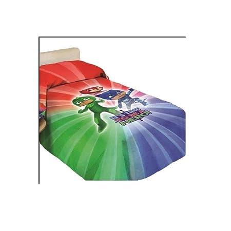Blu Cotone 135/x 200/cm pjmasks Set di Biancheria da Letto