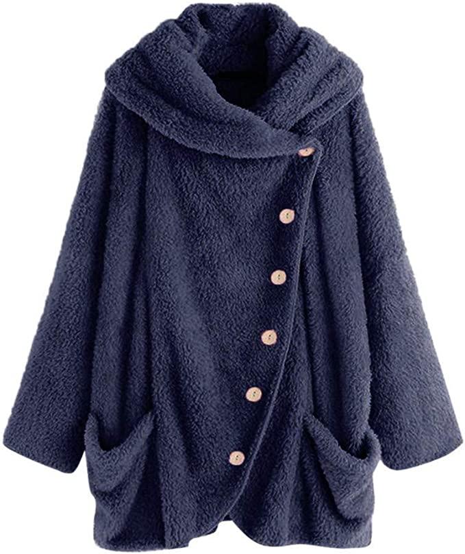 soffice Motivo Leopardato alla Moda con Cappuccio Calda Felpa Invernale da Donna Felpa da Donna con Cappuccio Oversize