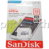 Sandisk Ultra Android microSDHC 32 Gb 80 Mb/s Class 10 Featuring Class 10 for Full HD4 - SDSQUNS-032G-GN3MN