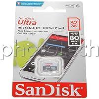 SanDisk Ultra 32 GB Android microSDHC karta pamięci do 80 MB/s, klasa 10, szara, biała, 1 opakowanie, SDSQUNS-032G-GN3MN