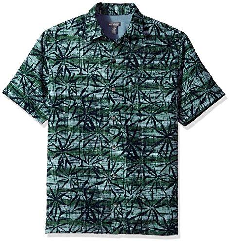 Van Heusen Men's Short-Sleeve Polynesian Printed Shirt, Seaweed, X-Large from Van Heusen