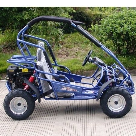 TRAILMASTER XRX-R MID-SIZE 200cc KIDS GO KART with REVERSE BLUE