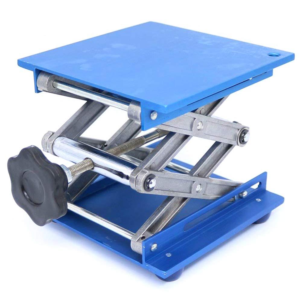 SODIAL 6inch Aluminum Lab-Lift Lifting Platforms Stand Rack Scissor Lab Jack 150x150x250mm