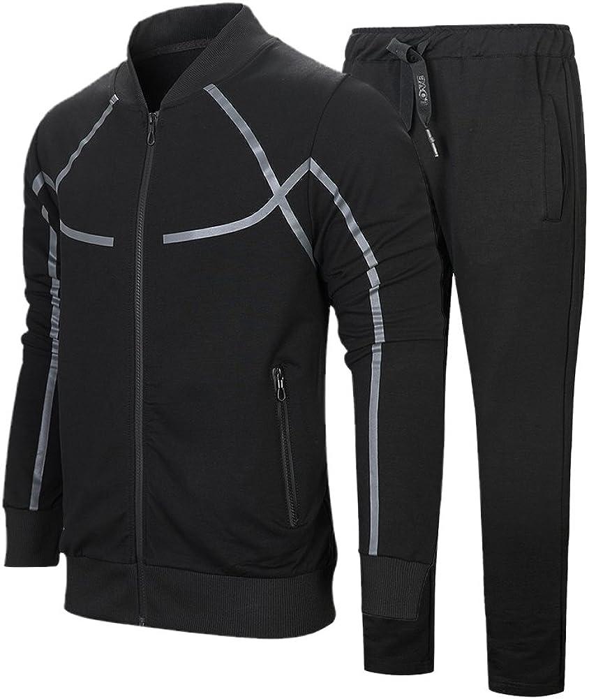 LBL Mens Tracksuit Set Jogging Bottoms Hoodies Zip Trousers Gym Sports Suit Sets Joggers Pants