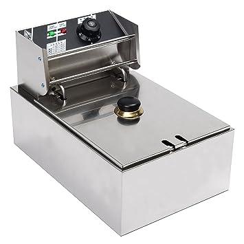Tutoy 220V 2.5 Kw Eléctrico Freidora 6L Comercial Freír Chip Cocina Cesta: Amazon.es: Hogar