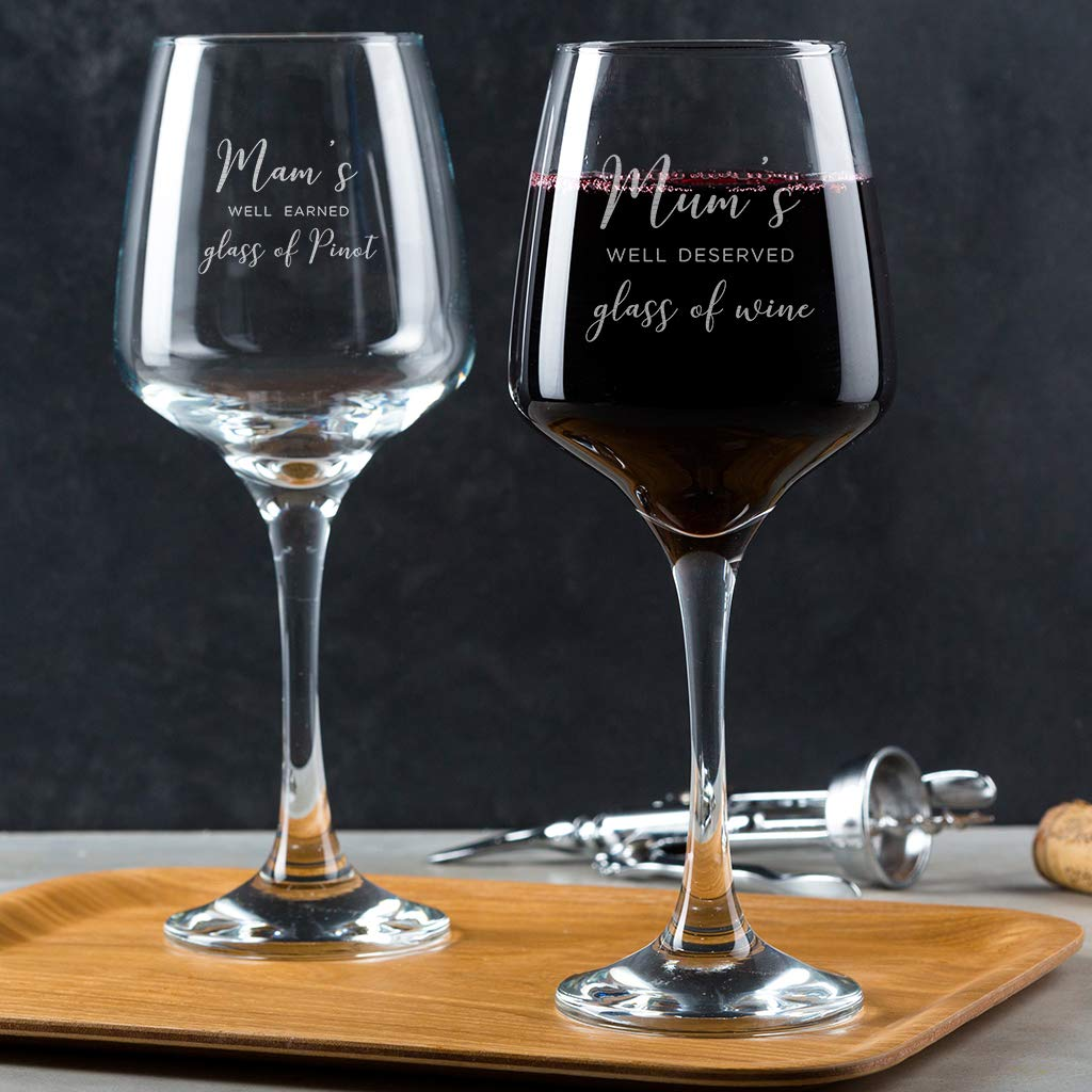 Engraved Wine Glass Mothers Day Gift for Mum from Daughter//Birthday Gift for Mum from Son//Best gifts for Mum Personalised Wine Glass for Mum Well Deserved Glass of Wine