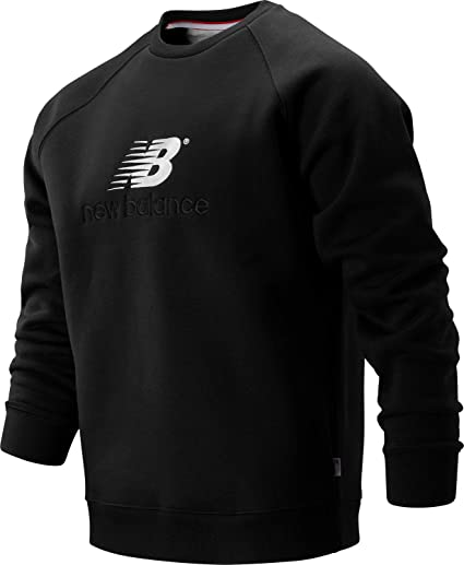 New Balance Men/'s NB Athletics Classic Crew Black with Blue /& White Size XL