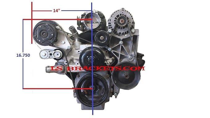 Amazon.com: LS R4 A/C Relocation Bracket Turbo LQ,LS1,LS2,LS3,LS6,LS7,LY6: Automotive