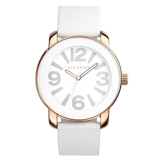 Reloj Viceroy de Mujer. Modelo 40718-05. Esfera redonda de color blanco: Amazon.es: Relojes