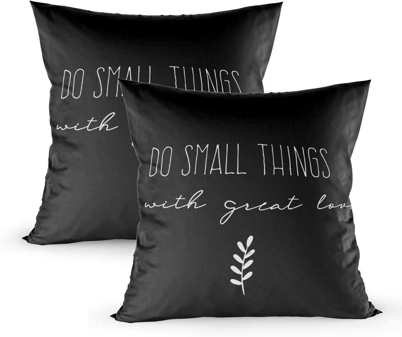 koniqiwa Throw Pillow Covers Black and