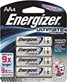 Energizer Ultimate Lithium Batteries Batteries AA 4 ea ( Pack of 3)