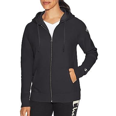 b63214f5fd1 Champion Womens Heritage Fleece Full Zip Hoodie  Amazon.co.uk  Clothing