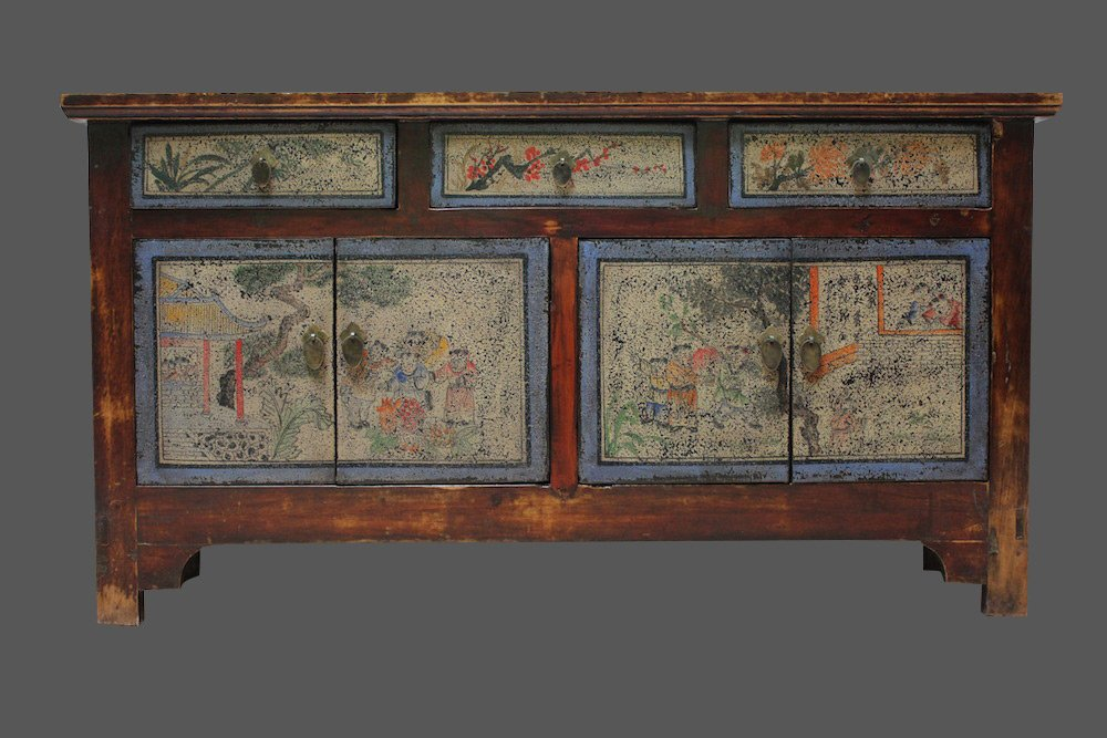 Altes Sideboard China Chinesische Kommode Kommode China Mongolei