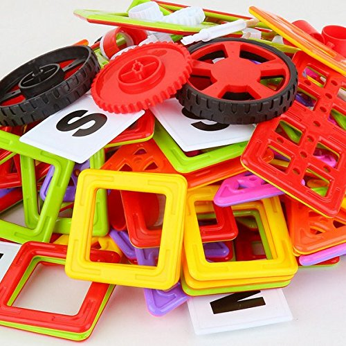 OOFAY 102 Pcs Magnetic Blocks Creative Magnetic Building Blocks Magnetic Tiles Set For 3D Construction For Kids Age 3+ Educational Toys For Kids by OOFAY (Image #1)
