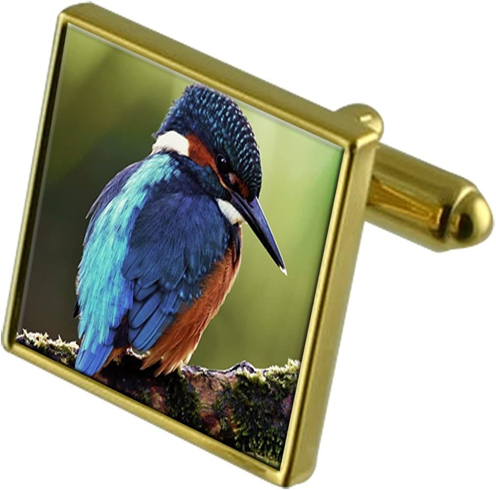 Select Gifts Kingfisher Gold-Tone Cufflinks in Pouch