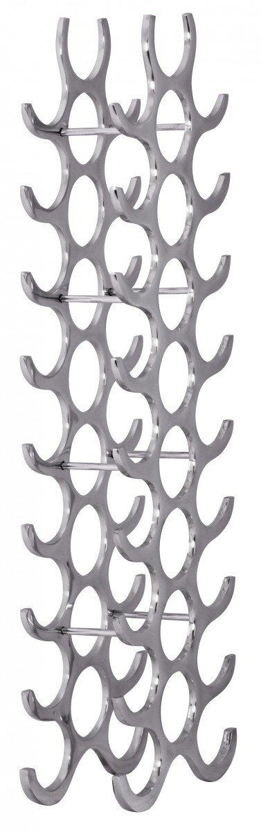 FineBuy Weinregal Design Design Design 98 cm für 27 Flaschen Aluminium Silber 05df84