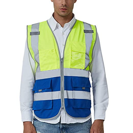 33fff802e93de High Visibility Vest ♧ Men Road Work Shirts Pullover Sleeveless Jacket  British Suit Vest Blouse Tops at Amazon Men s Clothing store